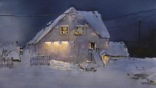 Schjolberg Torgeir. Акварельные этюды. Lys i morke. 70x90