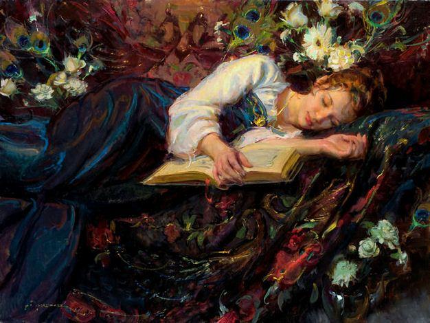 Daniel F. Gerhartz. Американская современная живопись. Peacock Mosaic