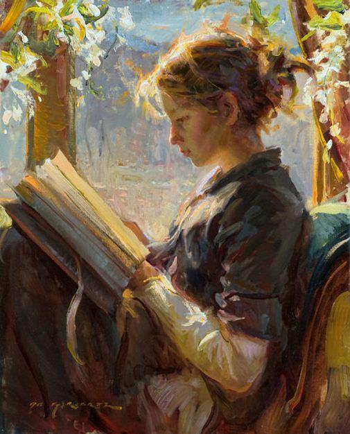 Daniel F. Gerhartz. Американская современная живопись. The Garden Window