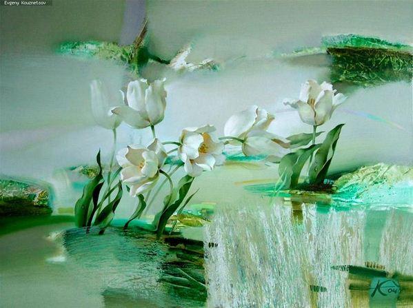 Евгений Кузнецов. Абстракция в живописи. Белый танец. Холст масло