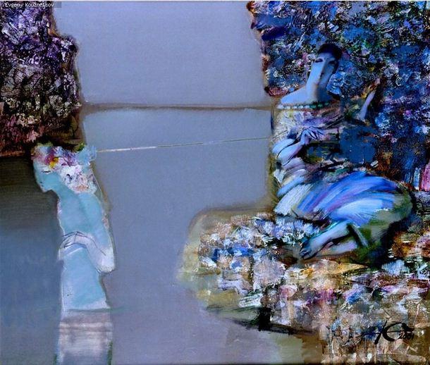 Евгений Кузнецов. Абстракция в живописи. Берега. Холст масло