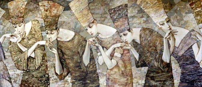 Евгений Кузнецов. Абстракция в живописи. Бесконечная признательность. 100х250 . холст масло акрил