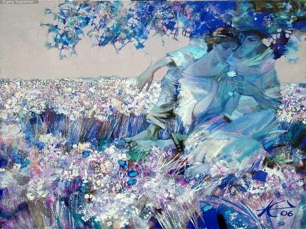 Евгений Кузнецов. Абстракция в живописи. Единственная. Холст масло