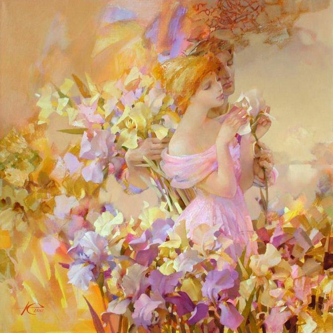 Евгений Кузнецов. Абстракция в живописи. Единственный. 110х110. холст масло