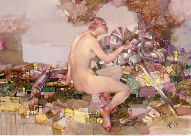 Евгений Кузнецов. Абстракция в живописи. Касание. 80х100. холст масло