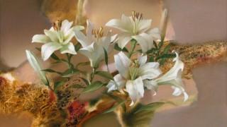 Евгений Кузнецов. Цветы и абстракция. Анданте. 50х70. холст масло