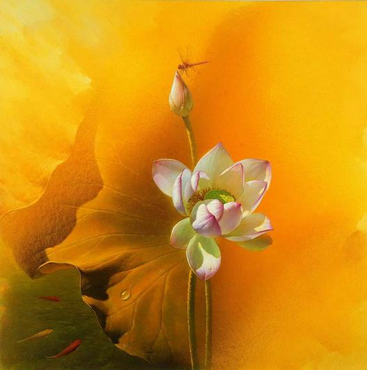 Jiang Debin. Цветы акварелью. Gorgeous. 110х100