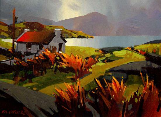 Michael O'Toole. Акриловая живопись. Soft Day in County Kerry. Акрил. 12х16 дюймов