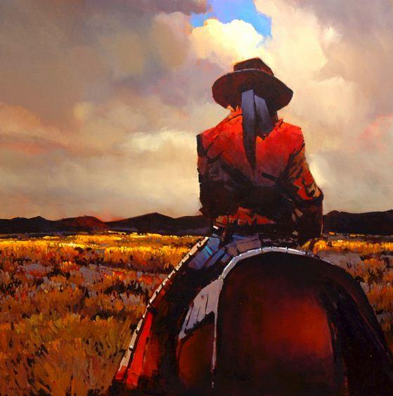 Michael O'Toole. Акриловая живопись. The Way of the Gaucho. Акрил. 48х48 дюймов