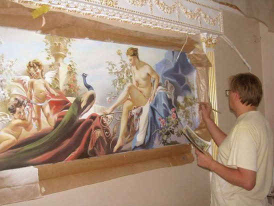 Сергей Брандт. Роспись стен. Четвертая
