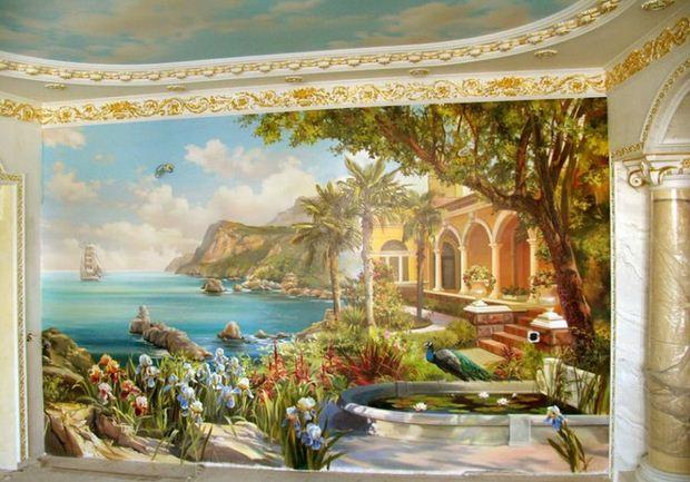 Сергей Брандт. Роспись стен. Пятая