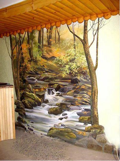 Сергей Брандт. Роспись стен. Третья