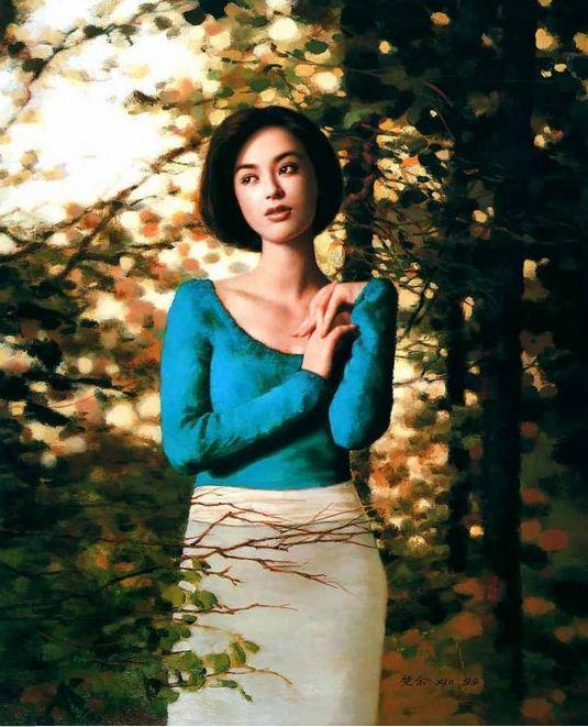 Xie Chuyu. Китайский портрет. Autumn season