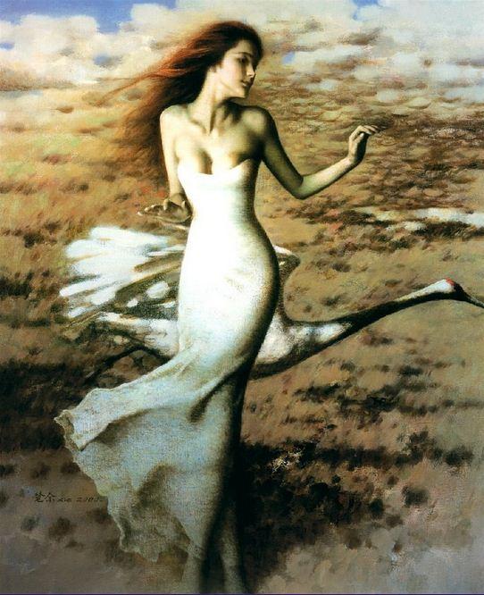 Xie Chuyu. Китайский портрет. Dancing girl