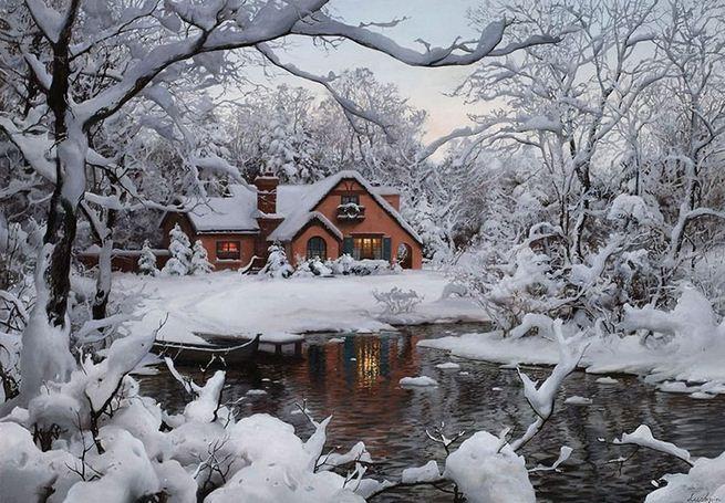 Евгений Лушпин. Современные художники России. Winter Wonderland