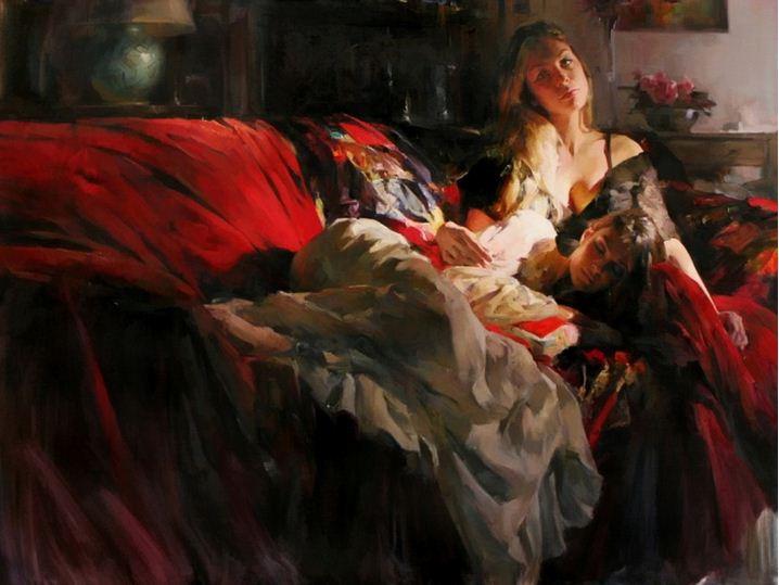 Михаил и Инесса Гармаш. Портреты живопись. Картина двадцатая