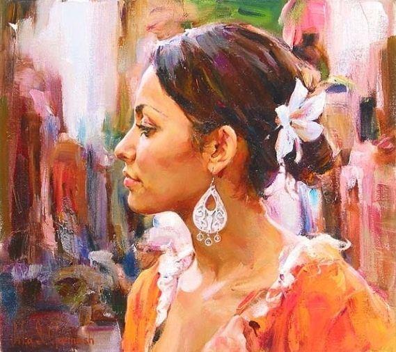 Михаил и Инесса Гармаш. Портреты живопись. Картина семнадцатая