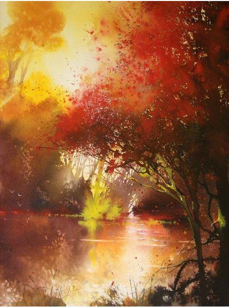 Roland Palmaerts. Осень акварелью. Акварель одинадцатая