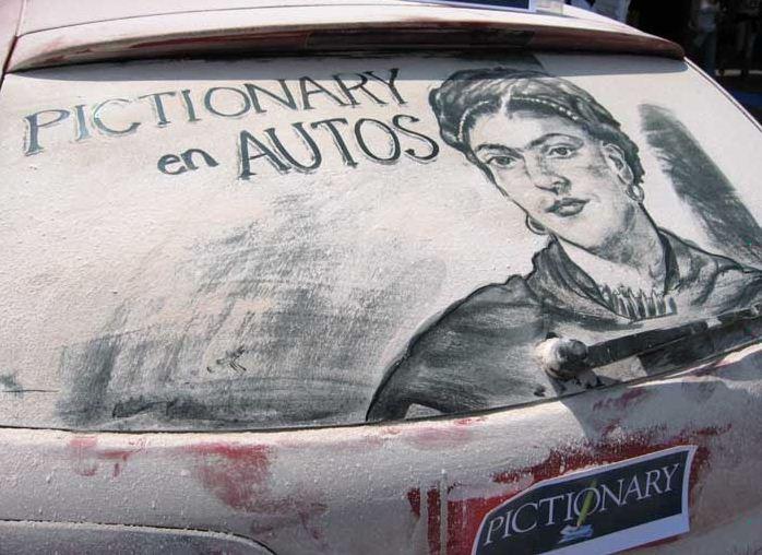Scott Wade. Рисунки на грязных машинах. Freda