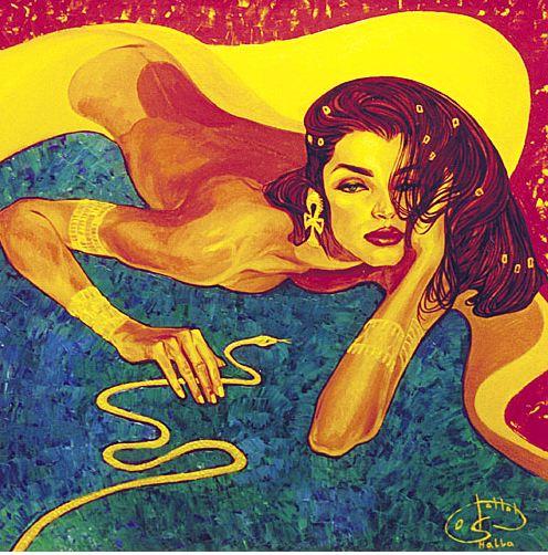 Fattah Hallah Abdel. Египетские картины. Клеопатра. 100х100. Холст масло