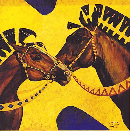 Fattah Hallah Abdel. Египетские картины. Нежность. 100х100. Холст масло
