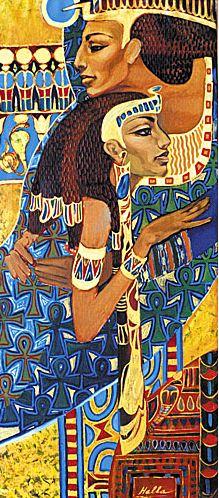 Fattah Hallah Abdel. Египетские картины. Притяжение любви. 50х120. Холст масло