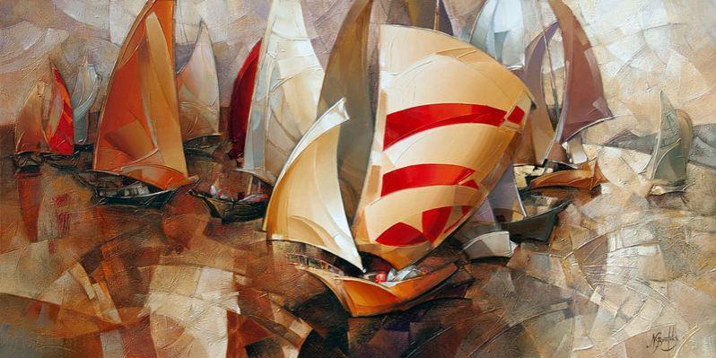 Израильский художник Nathan Brutsky. Картина первая