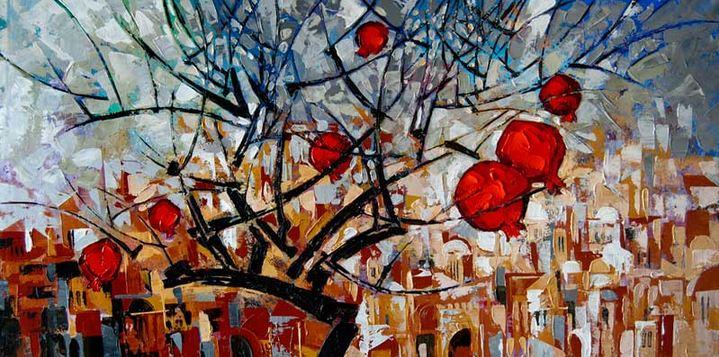 Израильский художник Nathan Brutsky. Картина семнадцатая