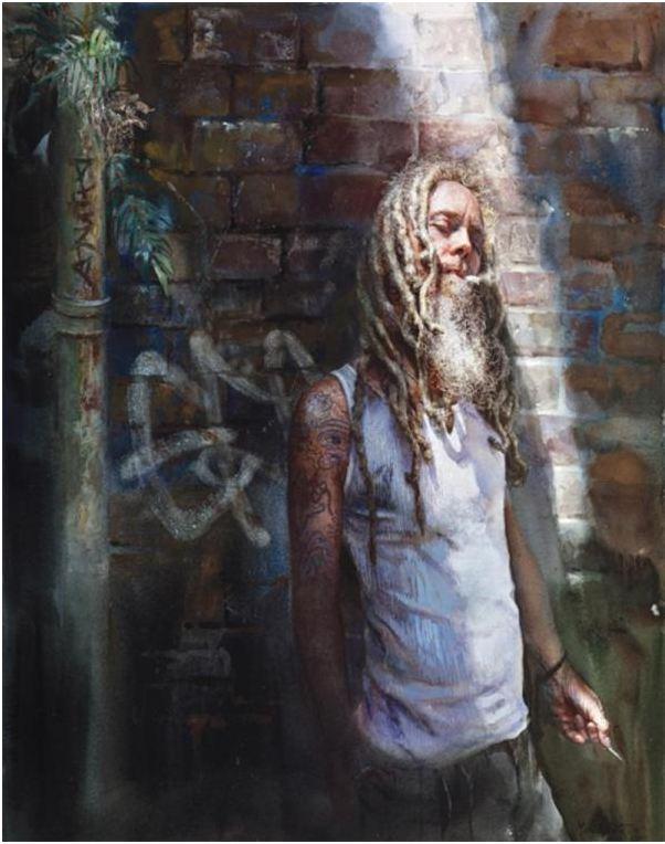 Mary Whyte. Портреты акварелью. Absolution. 33х28 дюймов. Бумага акварель