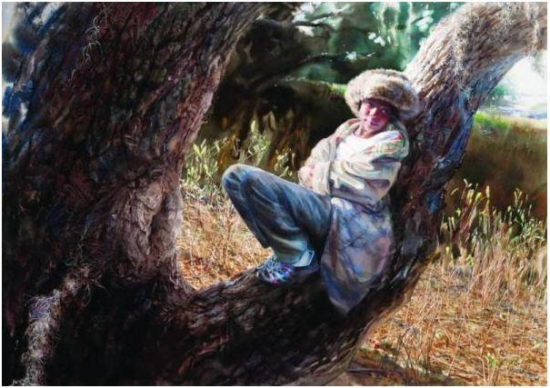 Mary Whyte. Портреты акварелью. Perch. 28х39 дюймов. Бумага акварель