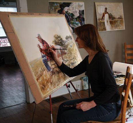 Mary Whyte. Портреты акварелью. За работой