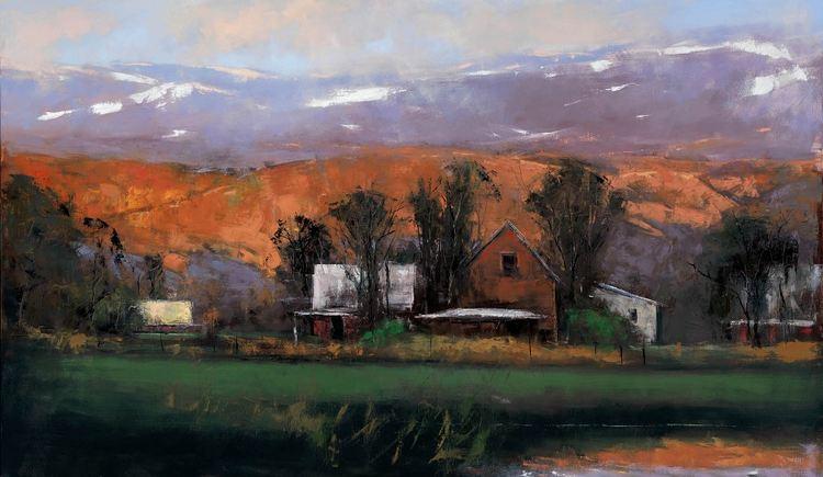 Romona Youngquist. Американский пейзаж в живописи. Oregon Gold. 60х38 дюймов. Масло