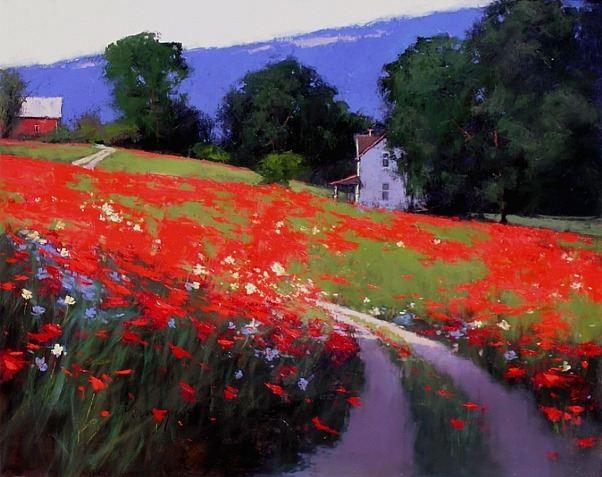Romona Youngquist. Американский пейзаж в живописи. Summertime. 48х60 дюймов. Масло