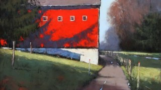 Romona Youngquist.Американский пейзаж в живописи. Утренние тени. 60х60 дюймов. Масло
