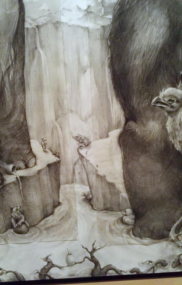 ArtPrize 2012. Adonna Khare и ее большие рисунки. Слоны. Фрагмент девятый