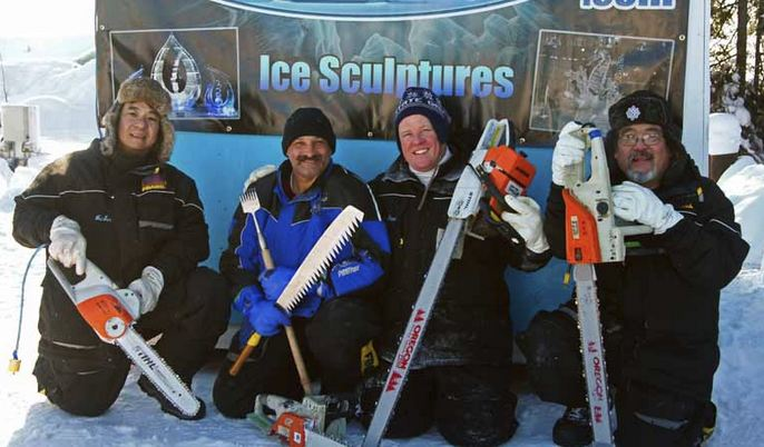 Ice Alaska 2013. Multi block. Абстракция. 1 место. Kolonko Stan, Uyehara Chris, Perun Jerry, Liang Wei Sen. США