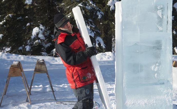 Ice Alaska 2013. Multi block. Абстракция. 2 место.  Надежда. Распускают толстый лед