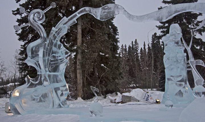 Ice Alaska 2013. Multi block. Абстракция. 3 место.  Пение в унисон. Фрагмент