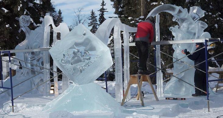 Ice Alaska 2013. Multi block. Абстракция. 3 место.  Пение в унисон. В процессе