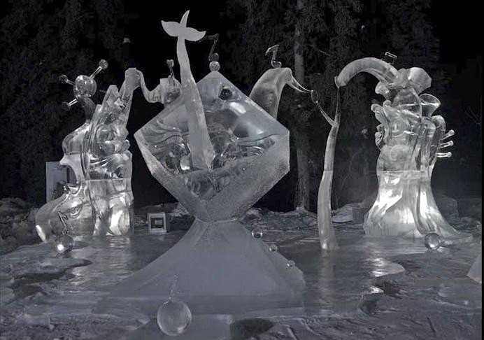 Ice Alaska 2013. Multi block. Абстракция. 3 место.  Пение в унисон