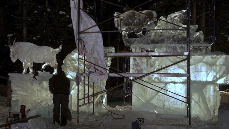Ice Alaska 2013. Multi block. Реалистика. 5 место. Расщелина в леднике. Для понимания размера