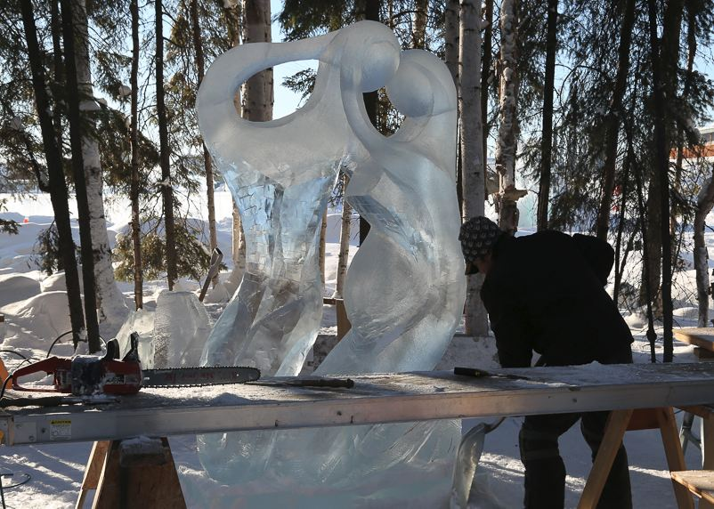 IceAlaska 2013. 4 место в категории Абстракция.  New Life в процессе