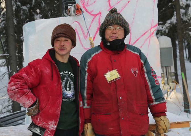 IceAlaska 2013. Wei Tian Zuo  и  Zhang Ling Zhi. Китай