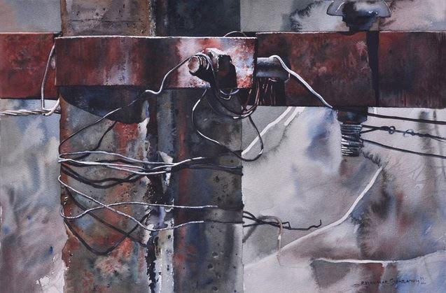 Индийский художник  Rajkumar Sthabathy.  Акварель вторая