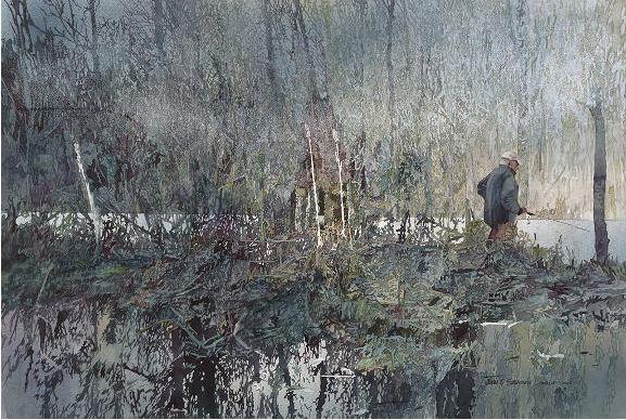 John Salminen. Картины акварелью. Весна. 23х34 дюйма