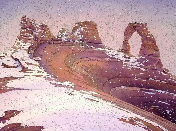 Jonathan Frank. Нестандартные пейзажи акварелью. Первый