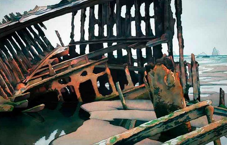 Jonathan Frank. Нестандартные пейзажи акварелью. Skeleton Coast. 19х29 дюймов