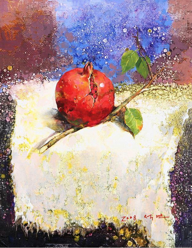 Корейский художник Yi Seong-bu. Натюрморт с цветами. Картина одинадцатая