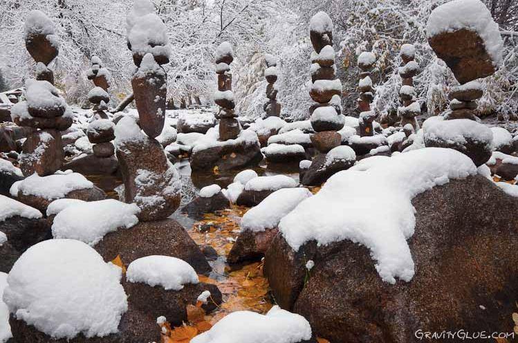 Michael Grab. Каменное равновесие. Композиция одинадцатая под снегом