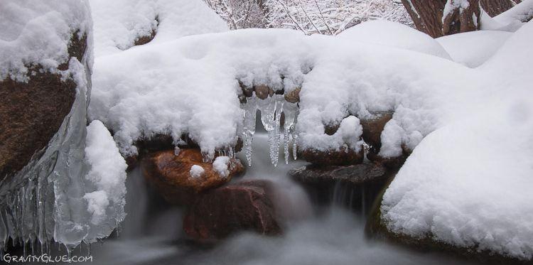 Michael Grab. Каменное равновесие. Композиция первая под снегом